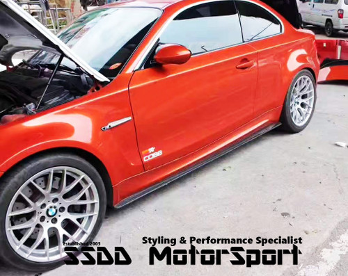 BMW E82 1M Coupe EVO Carbon Rear Side Skirt Extensions
