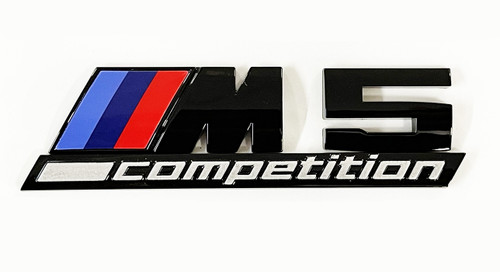 Gloss Black M5 Competition Rear Badges