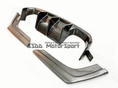 BMW F8X M3 M4 3 Piece Big Fin Carbon Fibre Rear Diffuser