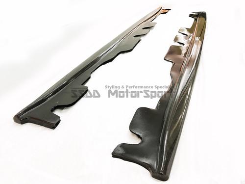 E92 E93 M3 GT Carbon Fibre Side Skirt Extensions Blades