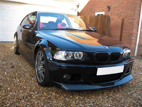 E46 Coupe Convertible 99-03 M3 01-06 Gloss Black Kidney Grilles