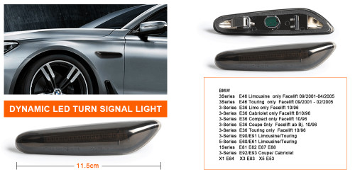 BMW Dynamic Sequential LED Side Indicator Lenses