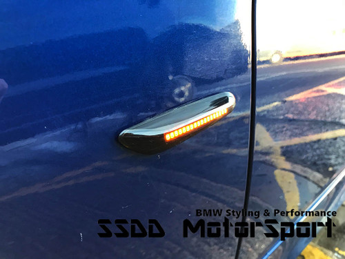 Dynamic Sequential LED Side Repeaters For BMW 1 3 5 X1 X3 X5 Series