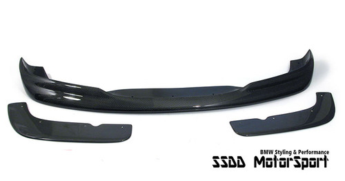 E46 M3 3 Piece Racing Carbon Fibre Front Splitter Set