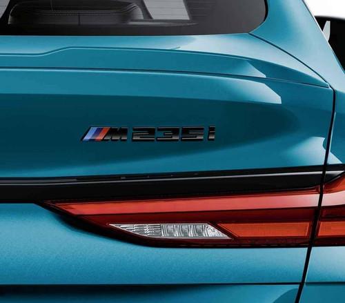 Genuine BMW M Performance Black M235i Badge, F44 Gran Coupe