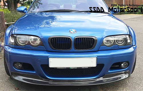 E46 M3 CSL full width front splitter