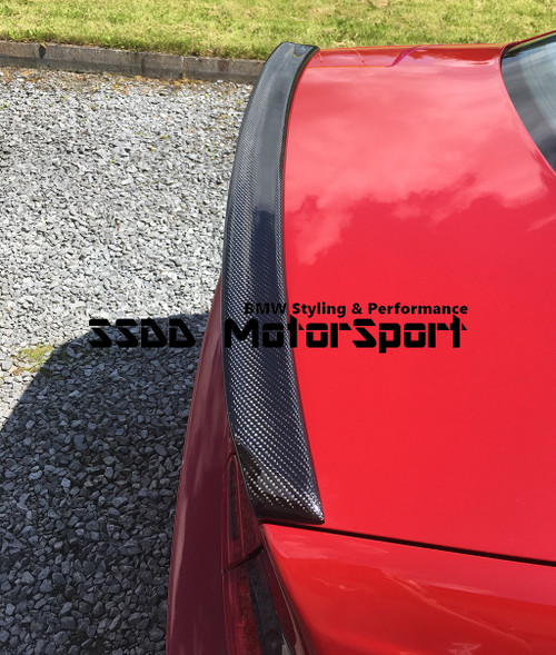 Carbon fibre boot lip spoiler for E46 3 Series