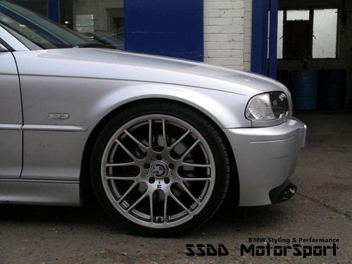 E46 M3 CSL Style Bumper with Carbon Splitters