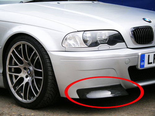 replacement carbon fibre splitters for bmw e46 m3 csl bumper