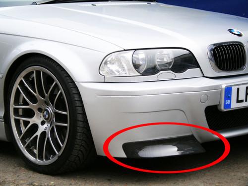 replacement carbon fibre splitters for bmw e46 m3 csl bumper