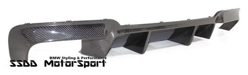 BMW F10 M5 & Msport GT Finned Carbon Fibre Rear Bumper Diffuser