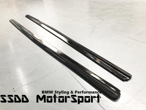 carbon fibre side skirt extensions blades for BMW f10 msport F10 M5