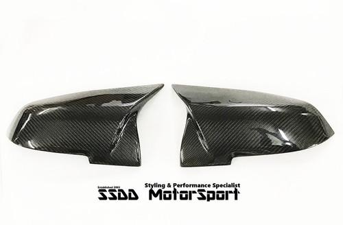 BMW F20 F22 F30 F32 Carbon Fibre M Look Mirror Covers