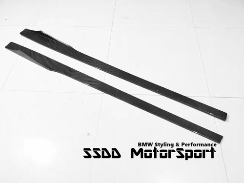Rennessis BMW F22 F87 M2 Carbon Fibre Side Skirt Extensions