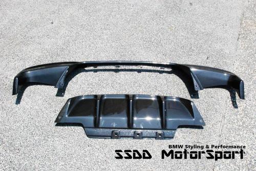 DTM Carbon Fibre Rear Diffuser for F12 F13 F06 M6 | Pre-Preg Dry Carbon Fibre