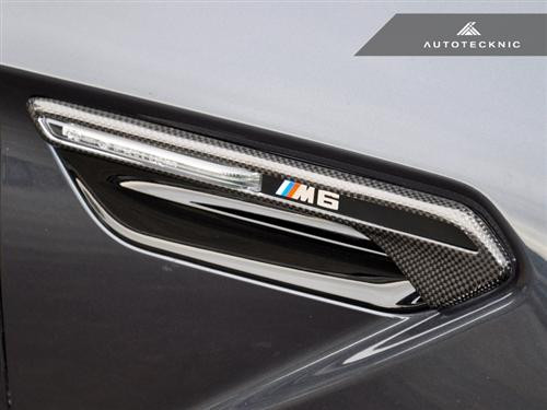 AutoTecknic Dry Carbon Fibre Side Vent Trims for BMW F12 F13 F06 M6