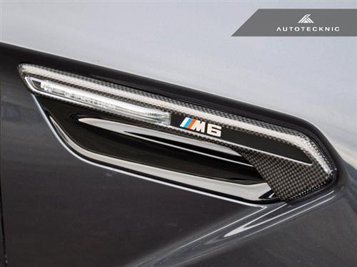 AutoTecknic Dry Carbon Fibre Side Vent Trims for BMW F12 F13 F06 M6