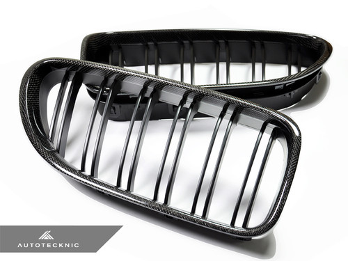 AutoTecknic Dual Slats Carbon Fibre Kidney Grilles for F12 F13 F06 6 Series and M6