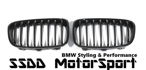 High Gloss Black Kidney Grilles for BMW F20 F21 Pre Lci 1 series