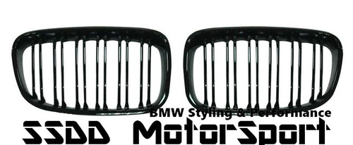 F20 F21 Pre LCI M Look Double Slats Gloss Black Kidney Grilles