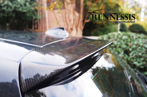 RENNESSIS BMW F20 F21 3D Style Rear Roof Spoiler | V2 High Line,  Pre-Preg Carbon Fibre