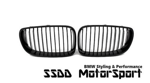 BMW E82 E88 Performance Look Gloss Black Kidney Grilles