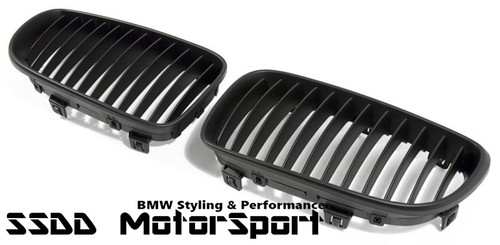 BMW E82 E88 Matt Black Kidney Grilles