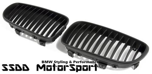 BMW E82 E88 Matt Black Kidney Grilles