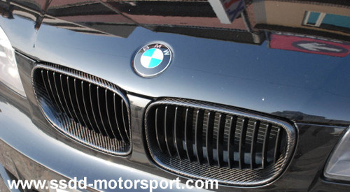 BMW E82 E88 Carbon Fibre Kidney Grilles