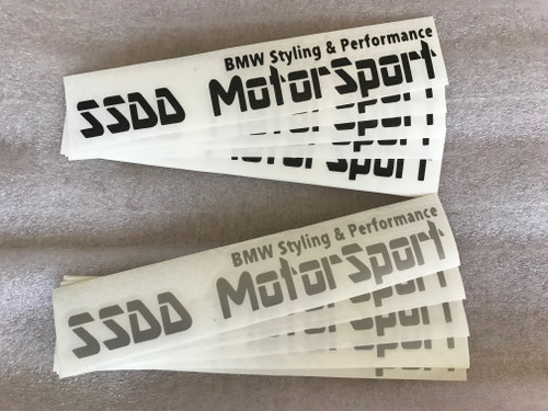 SSDD MotorSport Sticker - Silver or Black
