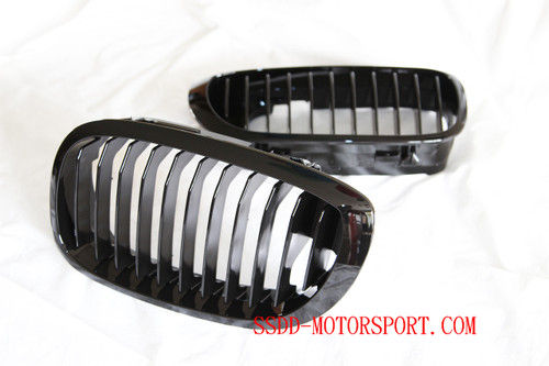 E46 2 Door Facelift gloss black kidney grilles