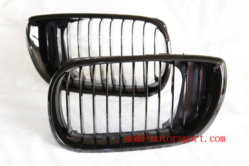 E46 Facelift saloon and touring gloss black kidney grilles