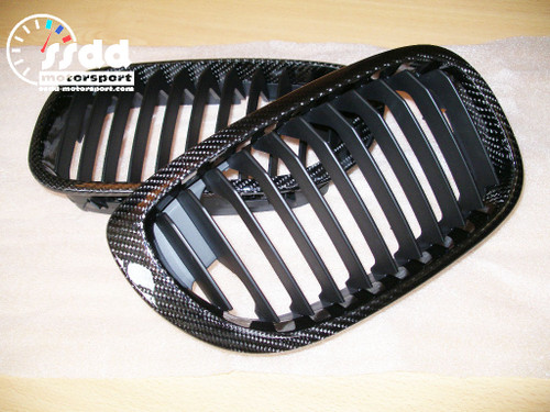 E46 facelift coupe convertible carbon fibre kidney grilles