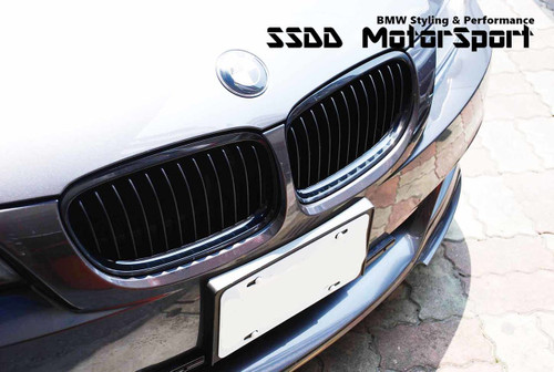 E90 E91 High Gloss Black Kidney grilles