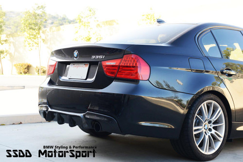 RENNESSIS GT Carbon Fibre Rear Diffuser for BMW E90 E91 MSport