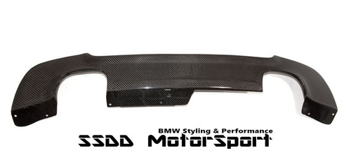 Carbon Fibre quad exhaust diffuser for BMW E92 E93 Msport