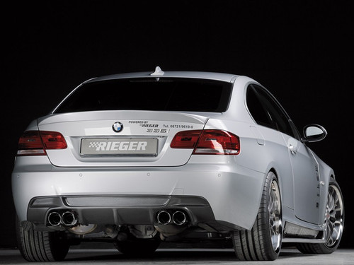 Rieger carbon look quad exhaust diffuser for BMW E92 E93 Msport