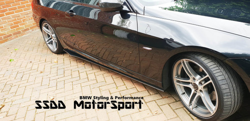 E90 E91 E92 E93 Msport carbon fibre side skirt extensions