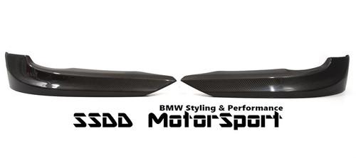 Carbon fibre corner splitters for BMW E92 E93 Pre LCI SE models