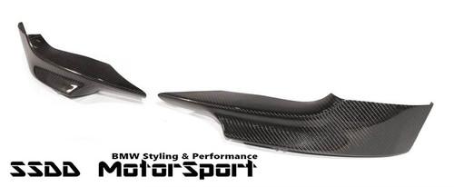 E92 E93 Msport 3D carbon front corner splitters