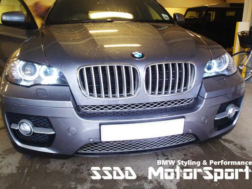 Superwhite BMW H8 LED Angel Eyes Upgrade Kit for E81 E87 (LCI 07-11) with xenon lights, E82 E88 07-13 with xenon lights, E82 1M coupe 11-13, E90 E91 LCI (08-12) with xenon headlights, E92 E93 06-09, E9X M3 07-13, E60 E61 LCI (07-11) with xenon lights, E70 X5 and E71 X6 with xenon lights.