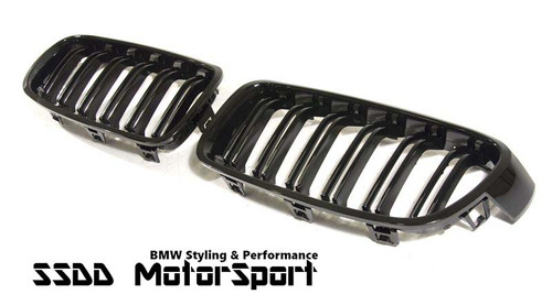F30 F31 M Look Double Slats black kidney grilles