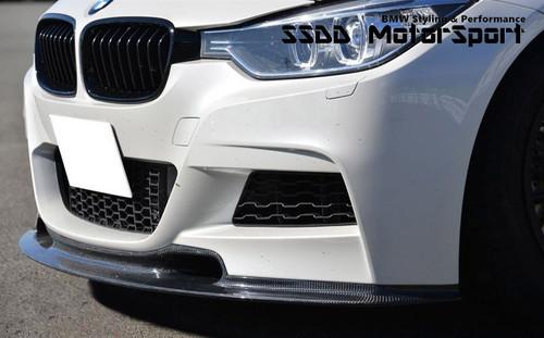 BMW F30 F31 Msport EVO Carbon Fibre Front Spoiler