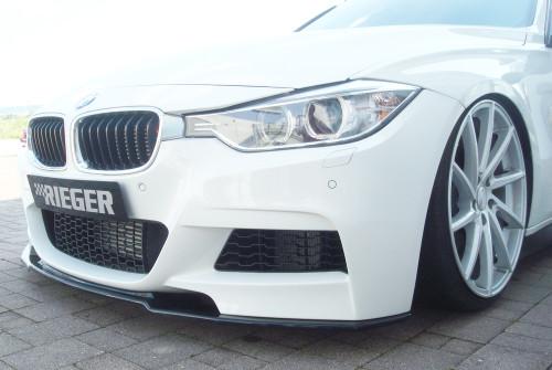Rieger BMW F30 F31 Msport high gloss black front splitter