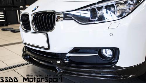 Carbon fibre front spoiler for BMW F30 F31 Sport linemodels