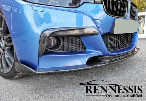 Carbon Fibre Front Splitter for BMW F30 F31 MSport Models