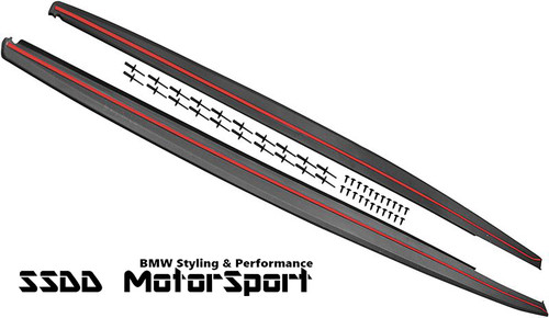 BMW F30 F31 Msport performance side skirt extensions