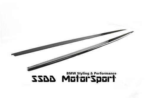 BMW F30 F31 Msport carbon fibre side skirt extensions