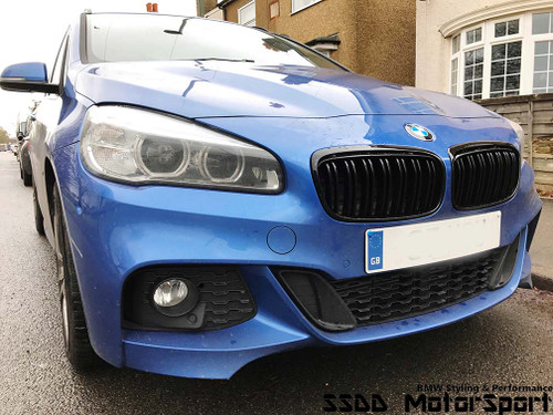BMW F45 F46 M Look Gloss Black Kidney Grilles