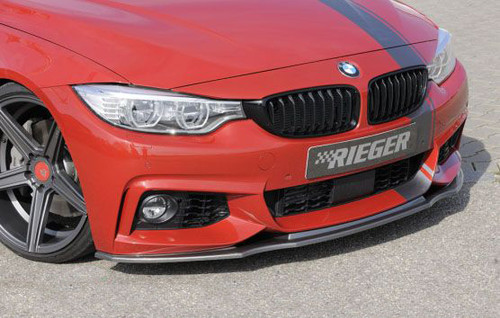 Rieger carbon look front splitter for BMW F32 F33 F36 Msport 4 series